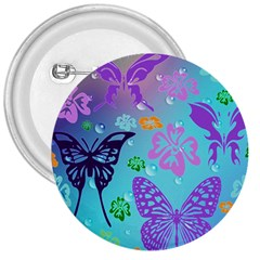 Butterfly Vector Background 3  Buttons by Amaryn4rt