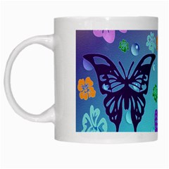 Butterfly Vector Background White Mugs by Amaryn4rt