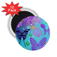Butterfly Vector Background 2 25  Magnets (10 Pack)  by Amaryn4rt