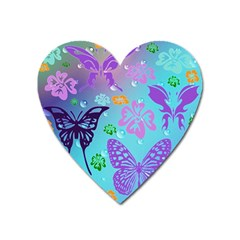 Butterfly Vector Background Heart Magnet by Amaryn4rt