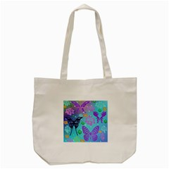 Butterfly Vector Background Tote Bag (cream) by Amaryn4rt