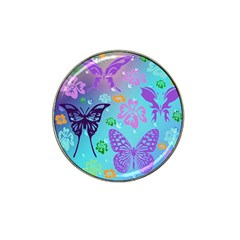 Butterfly Vector Background Hat Clip Ball Marker (10 Pack) by Amaryn4rt