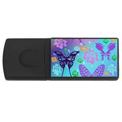 Butterfly Vector Background Usb Flash Drive Rectangular (4 Gb) by Amaryn4rt