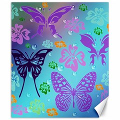 Butterfly Vector Background Canvas 8  X 10  by Amaryn4rt