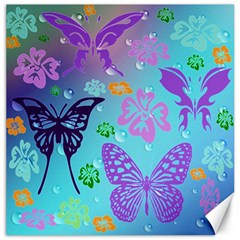 Butterfly Vector Background Canvas 16  X 16   by Amaryn4rt
