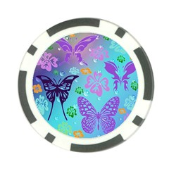 Butterfly Vector Background Poker Chip Card Guard by Amaryn4rt