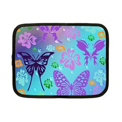 Butterfly Vector Background Netbook Case (small)  by Amaryn4rt