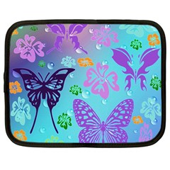 Butterfly Vector Background Netbook Case (large) by Amaryn4rt