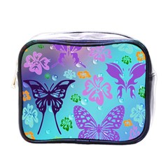 Butterfly Vector Background Mini Toiletries Bags