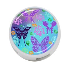 Butterfly Vector Background 4 Port Usb Hub (one Side) by Amaryn4rt