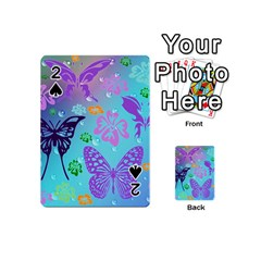 Butterfly Vector Background Playing Cards 54 (mini)  by Amaryn4rt