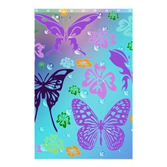 Butterfly Vector Background Shower Curtain 48  X 72  (small)  by Amaryn4rt
