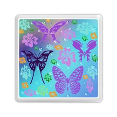 Butterfly Vector Background Memory Card Reader (square)  by Amaryn4rt