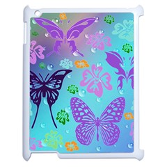 Butterfly Vector Background Apple Ipad 2 Case (white) by Amaryn4rt
