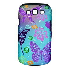 Butterfly Vector Background Samsung Galaxy S Iii Classic Hardshell Case (pc+silicone) by Amaryn4rt