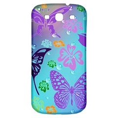 Butterfly Vector Background Samsung Galaxy S3 S Iii Classic Hardshell Back Case by Amaryn4rt