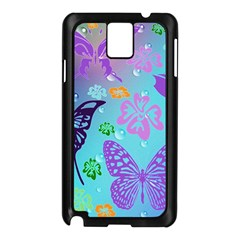 Butterfly Vector Background Samsung Galaxy Note 3 N9005 Case (black) by Amaryn4rt