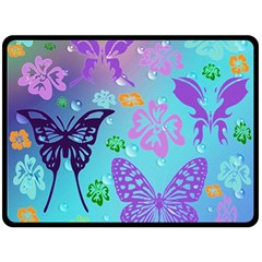 Butterfly Vector Background Double Sided Fleece Blanket (large)  by Amaryn4rt