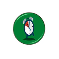 Alarm Clock Weker Time Red Blue Green Hat Clip Ball Marker (4 Pack) by Alisyart