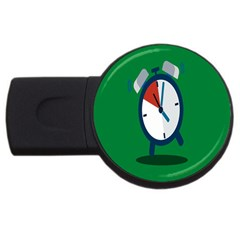 Alarm Clock Weker Time Red Blue Green Usb Flash Drive Round (4 Gb) by Alisyart