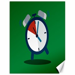 Alarm Clock Weker Time Red Blue Green Canvas 18  X 24   by Alisyart