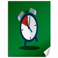 Alarm Clock Weker Time Red Blue Green Canvas 36  X 48   by Alisyart