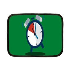 Alarm Clock Weker Time Red Blue Green Netbook Case (small)  by Alisyart