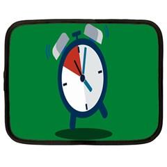 Alarm Clock Weker Time Red Blue Green Netbook Case (large)