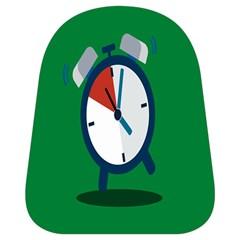 Alarm Clock Weker Time Red Blue Green School Bags (small)  by Alisyart