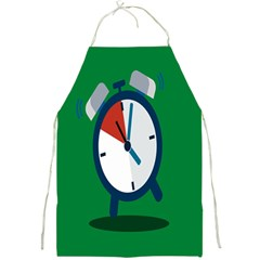 Alarm Clock Weker Time Red Blue Green Full Print Aprons by Alisyart