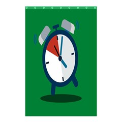 Alarm Clock Weker Time Red Blue Green Shower Curtain 48  X 72  (small)  by Alisyart
