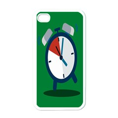 Alarm Clock Weker Time Red Blue Green Apple Iphone 4 Case (white) by Alisyart