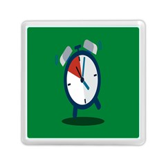 Alarm Clock Weker Time Red Blue Green Memory Card Reader (square)  by Alisyart