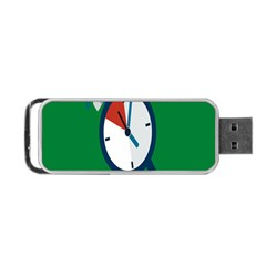 Alarm Clock Weker Time Red Blue Green Portable Usb Flash (two Sides) by Alisyart