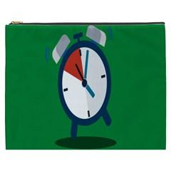 Alarm Clock Weker Time Red Blue Green Cosmetic Bag (xxxl)  by Alisyart