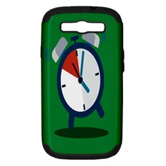 Alarm Clock Weker Time Red Blue Green Samsung Galaxy S Iii Hardshell Case (pc+silicone) by Alisyart