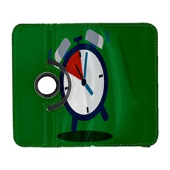 Alarm Clock Weker Time Red Blue Green Galaxy S3 (flip/folio) by Alisyart