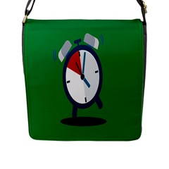 Alarm Clock Weker Time Red Blue Green Flap Messenger Bag (l)  by Alisyart