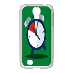 Alarm Clock Weker Time Red Blue Green Samsung Galaxy S4 I9500/ I9505 Case (white) by Alisyart