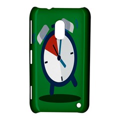Alarm Clock Weker Time Red Blue Green Nokia Lumia 620 by Alisyart