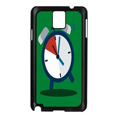 Alarm Clock Weker Time Red Blue Green Samsung Galaxy Note 3 N9005 Case (black) by Alisyart