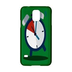 Alarm Clock Weker Time Red Blue Green Samsung Galaxy S5 Hardshell Case  by Alisyart