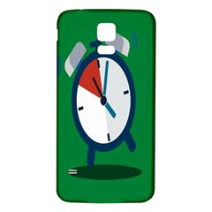 Alarm Clock Weker Time Red Blue Green Samsung Galaxy S5 Back Case (white) by Alisyart