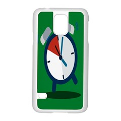 Alarm Clock Weker Time Red Blue Green Samsung Galaxy S5 Case (white) by Alisyart