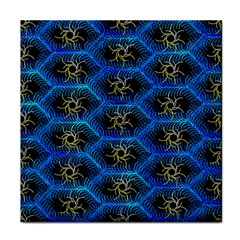 Blue Bee Hive Pattern Tile Coasters by Amaryn4rt