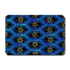Blue Bee Hive Pattern Small Doormat  by Amaryn4rt