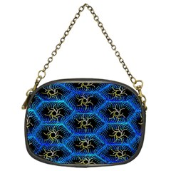 Blue Bee Hive Pattern Chain Purses (one Side)  by Amaryn4rt