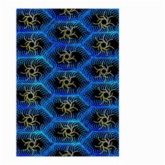 Blue Bee Hive Pattern Small Garden Flag (two Sides) by Amaryn4rt
