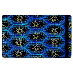 Blue Bee Hive Pattern Apple Ipad 3/4 Flip Case by Amaryn4rt