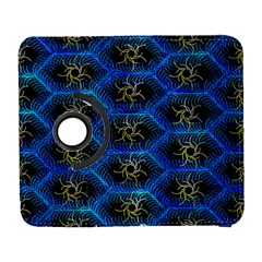 Blue Bee Hive Pattern Galaxy S3 (flip/folio) by Amaryn4rt